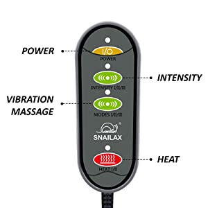 remote control heating modes vibration massage powerful intensity levels
