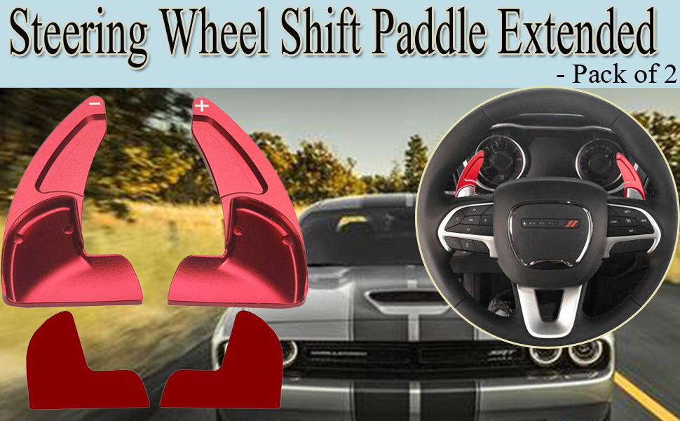 STEERING WHEEL SHIFT PADDLE EXTENDED