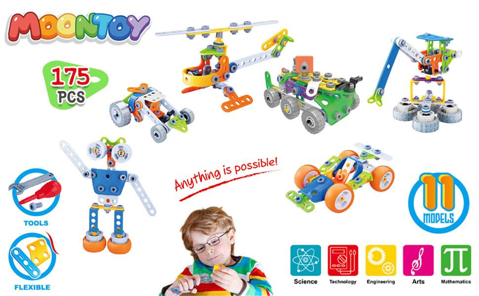 Construcción Bloques Niños Coche Robot  Juegos   Educativo Juguetes para Niños Niñas Infantil