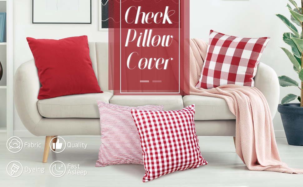 Check Pillow Cover
