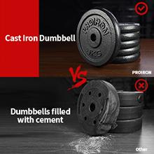 PROIRON 20kg Cast Iron Adjustable Dumbbell Set