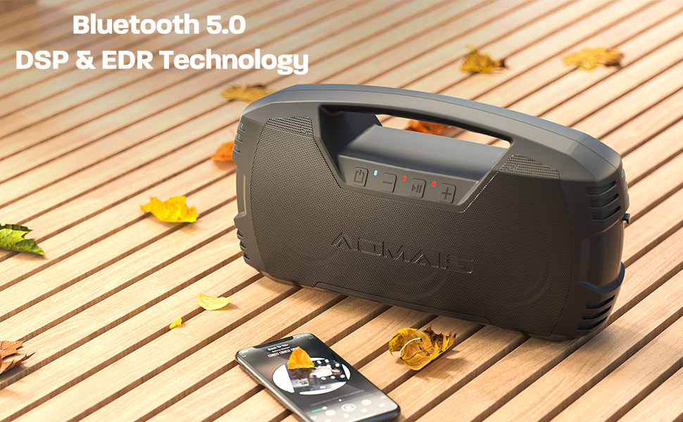 AOMAIS GO  AOMAIS GO Bluetooth Speakers, 40H Playtime Outdoor Portable Speaker, 40W Stereo Sound Rich Bass, IPX7 Waterproof Bluetooth 5.0 Wireless Pairing,10000mAh Power Bank, for Party, Travel(2020 Upgrade) 72f8ef1b cb26 4836 8ea1 7c95b2fe08d7