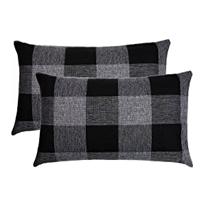 black and grey pillow covers