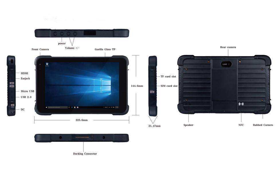 rugged tablet 8 inch windows 64 bit ruggedized laptop industry field PC for enterprise field work