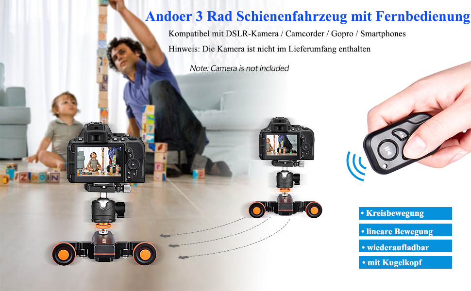 Andoer L4 Pro Video Camera Slider Dolly Automatic With Camera Photo