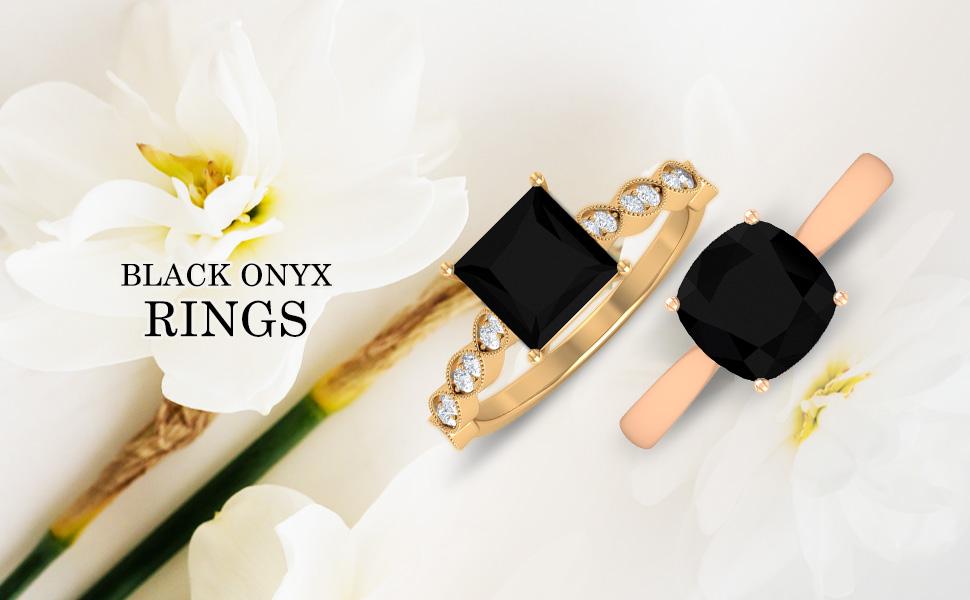 banner Black Onyx Rings