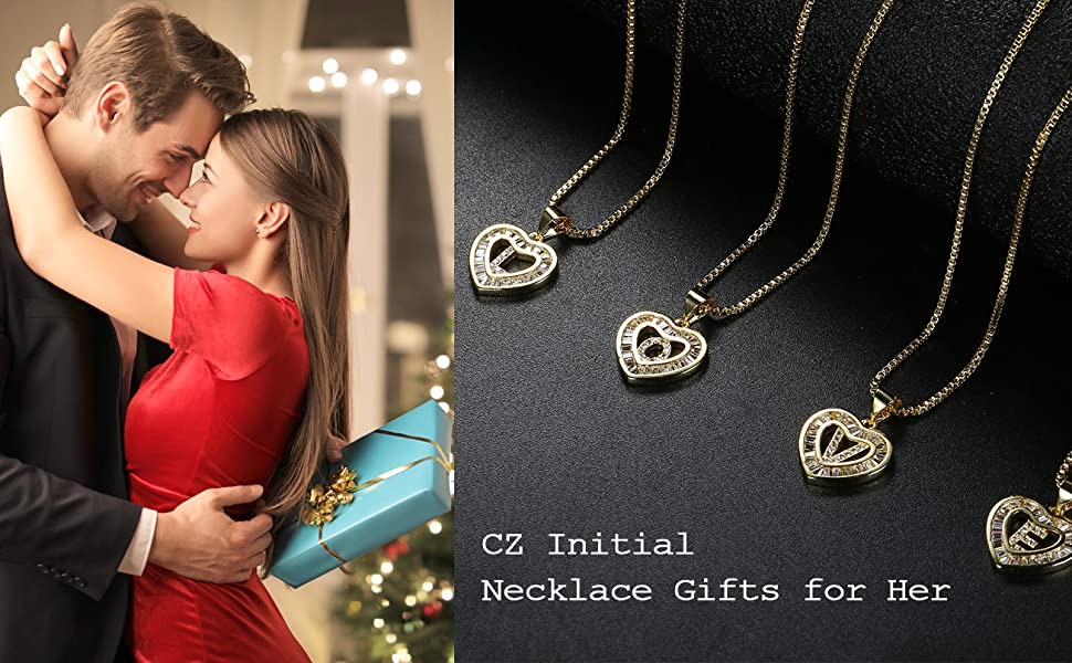 initial necklaces gold