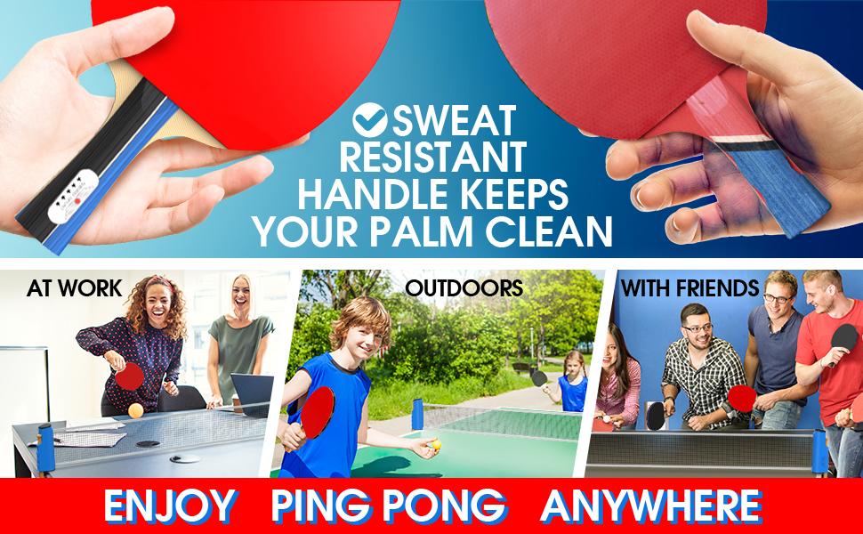CHECKED QUALITY PING PONG BALLS PORTABLE KIT