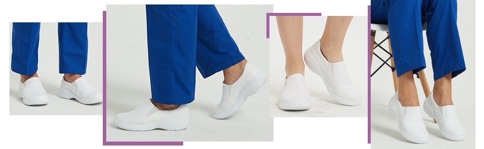 Hawkwell Women's Lightweight Comfort Slip Resistant Nursing Shoes
