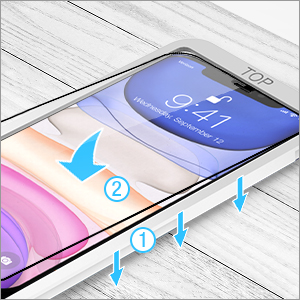 TETHYS iPhone 6.1 inch frame Screen Protector