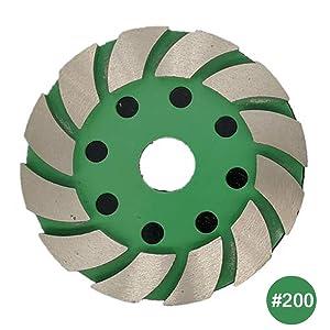 4 Inch Diamond Metal Grinding Pad Grit 30 for Concrete Masonry Work Floor St...