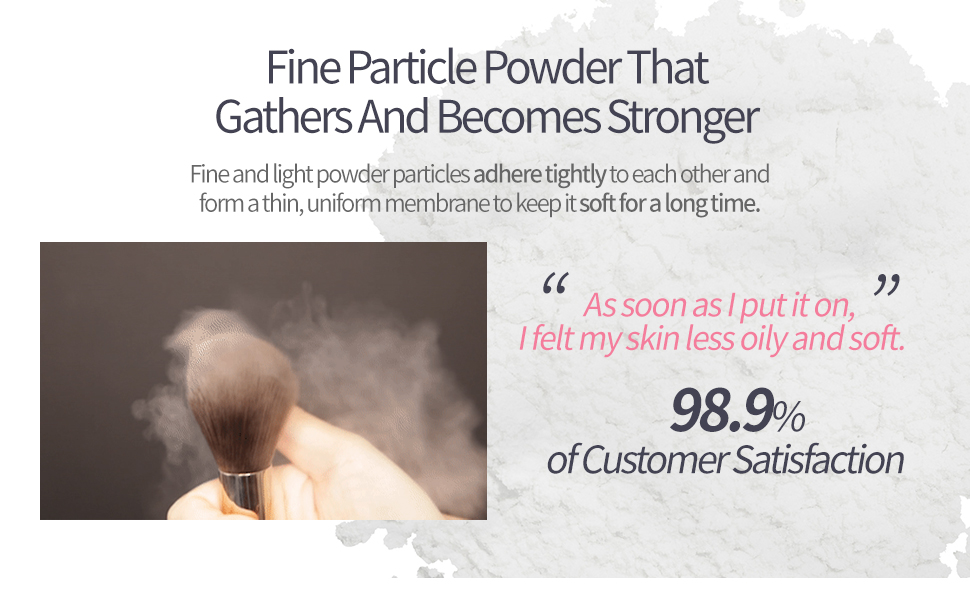 Fine Particle Powder That Gathers And Becomes Stronger