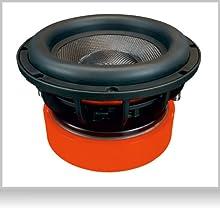EBR-M10DX: Bassreflex Bassbox , bestückt mit Woofer mit 2 x 2 Ohm Doppelschwingspule
