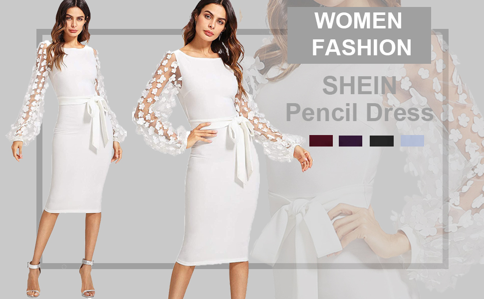 shein mesh bodycon pencil dress