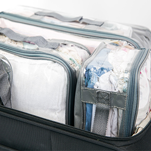 Vertically packed travel cubes
