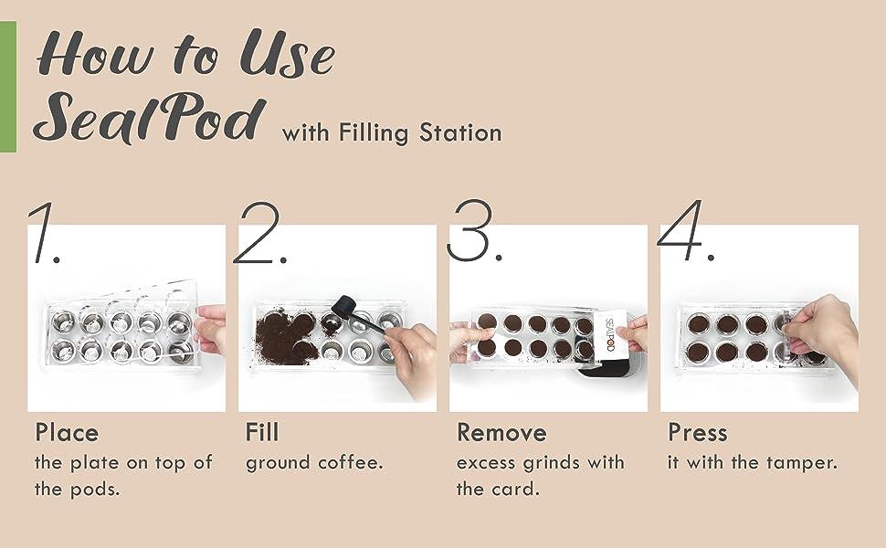how to use sealpod (nespresso reusable pods)