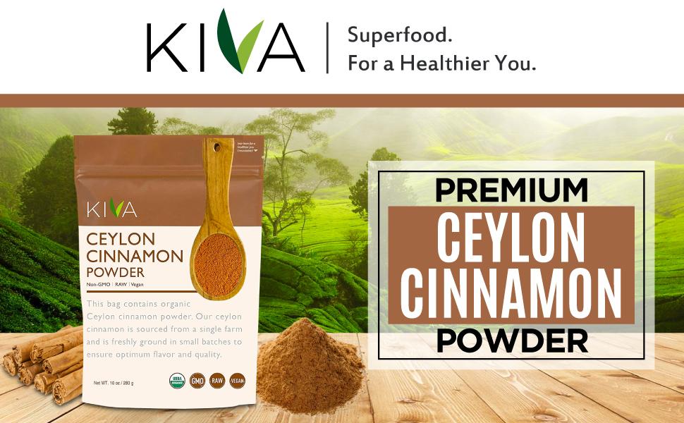Kiva organic ceylon cinnamon powder
