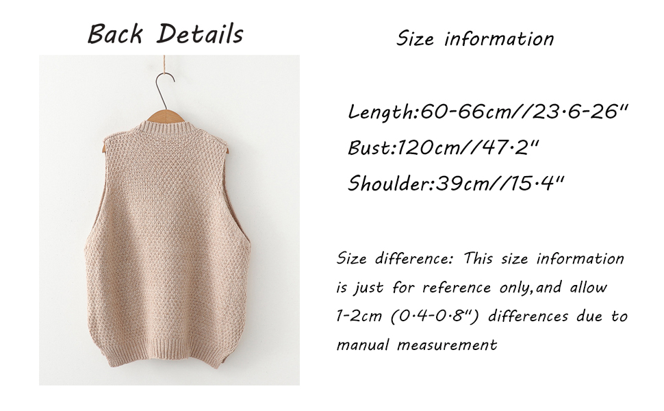 Minibee Women's V-Neck Knitted Sweaters Vests Sleeveless Casual Pullover Top …