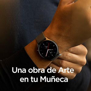 Llevarse GTR 2e Reloj Inteligente en su muñeca pareciendo una obra de arte.