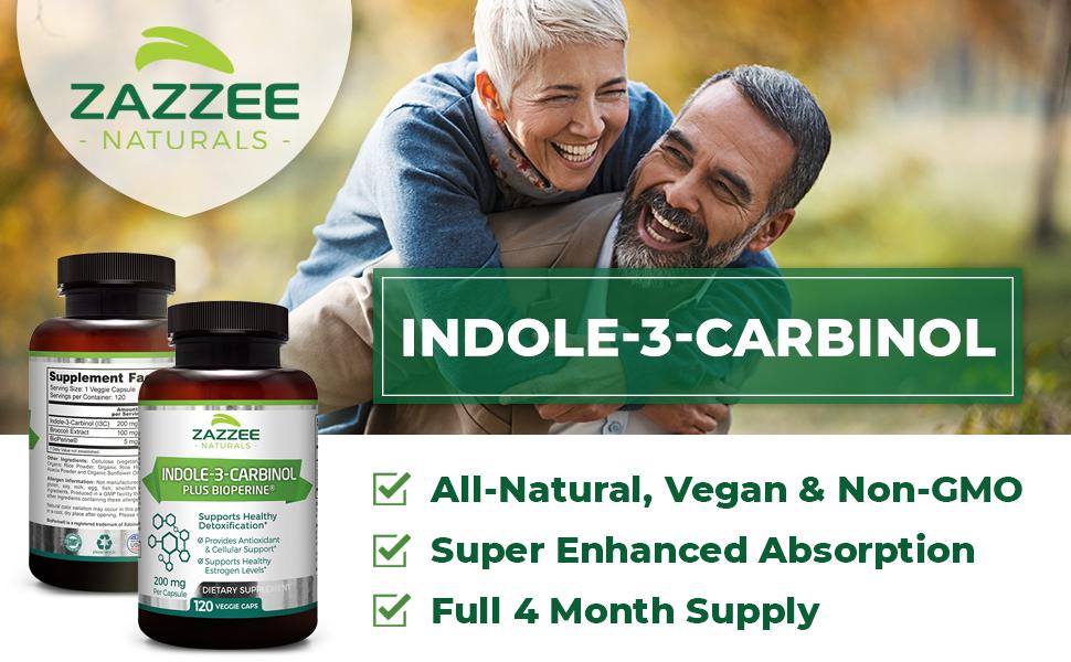 Zazzee Naturals Indole-3-Carbinol, All-Natural, Vegan, Super Enhanced Absorption, and 4 Month Supply