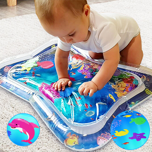 baby girl water play mat