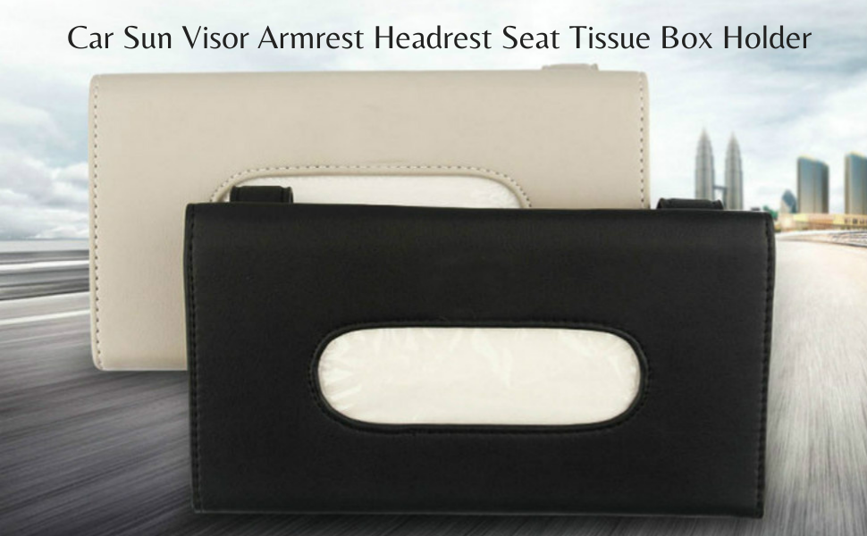 Car sunvisor tissue box holder