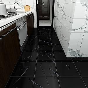 peel and stick black vinyl floor stickers