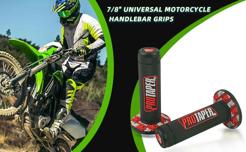 7//8 22mm Universal Motorcycle Handlebar Grips For Dirt Pit Bike ATV UTV Pro Part Racing For Yamaha Suzuki Kawasaki BMW For Honda CRF150F CRF230F CRF250F CRF450F Blue
