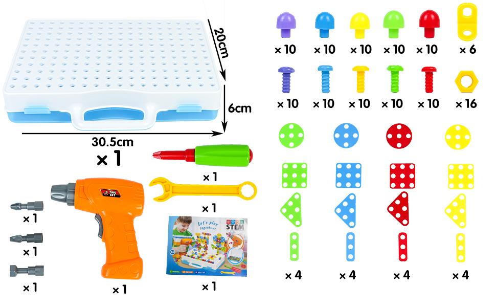 construcciones para niños caja herramientas juguete