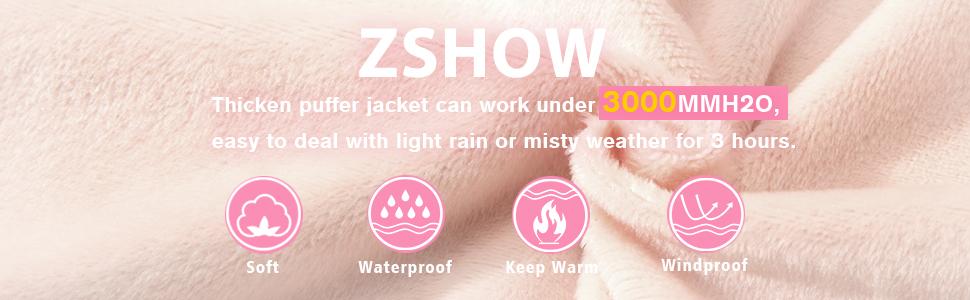 ZSHOW Girls' Warm Thicken Padded Winter Coat Hooded Puffer Jacket