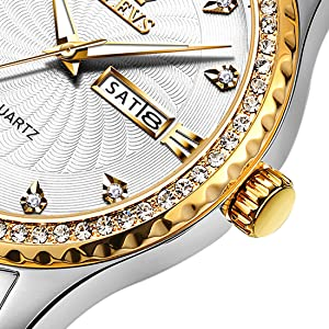 white gold diamond luxury Watches for Men on sale clearance Reloj impermeable para hombre