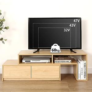・様々なTVサイズ対応