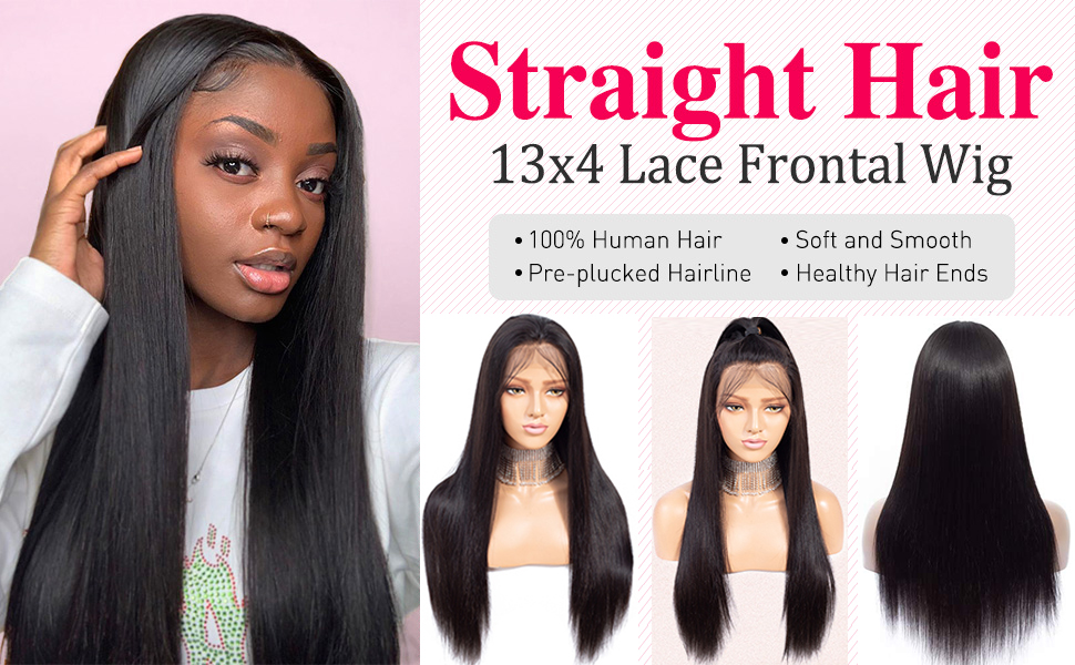 Flady Lace Front Wigs Human Hair Straight