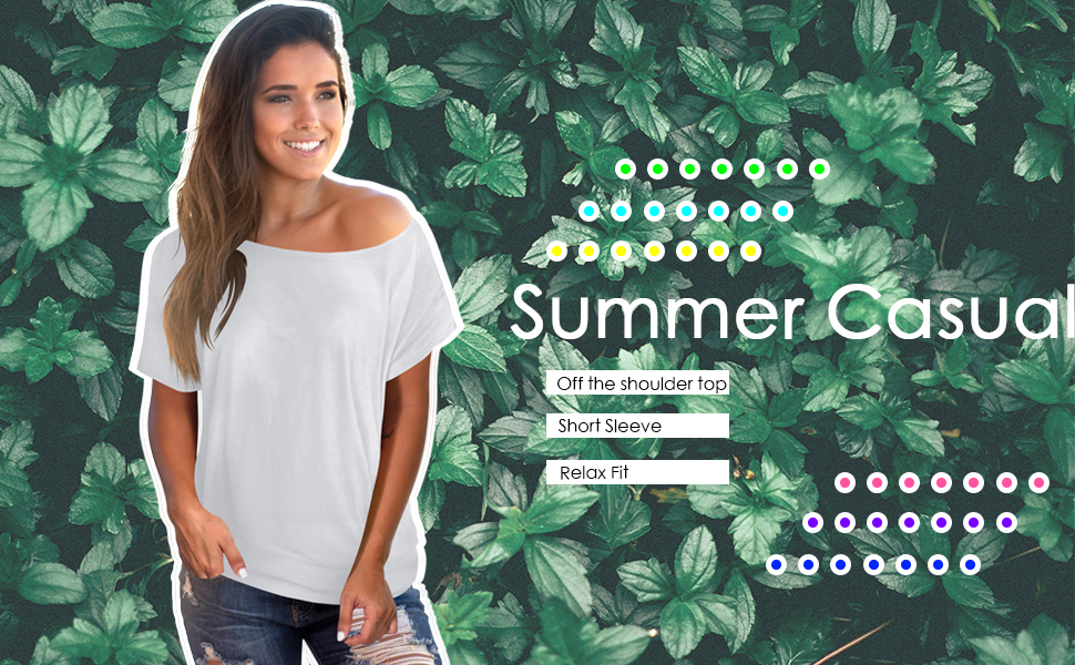off the shoulder top for women summer top tshirt tees