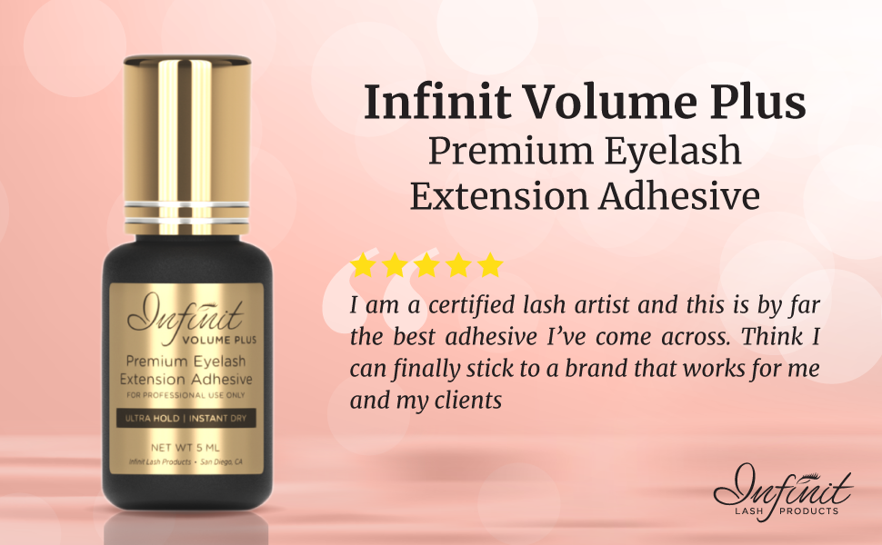 ULTRA STRONG Eyelash Extension Glue - Infinit Volume Plus Premium Eyelash  Glue for Individual
