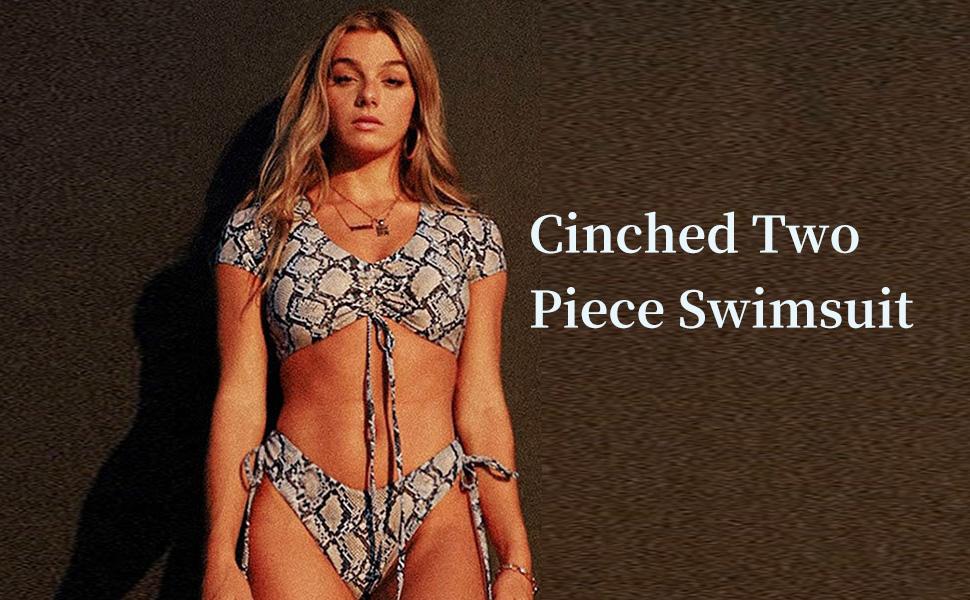 cinched bikini