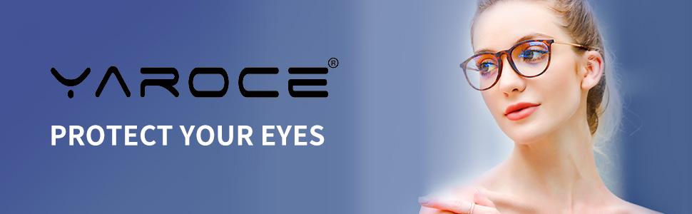Yaroce blue light glasses fit guide banner