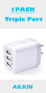 3 port wall charger