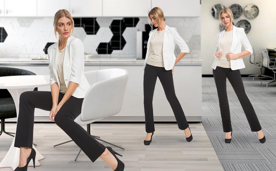 Questo pantaloni da lavoro bootleg lunghi da donna
