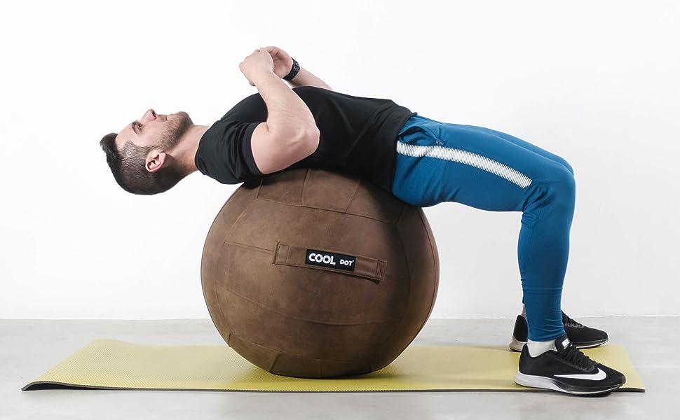 COOLDOT Bola de Yoga para Adultos Pelota Asiento Silla con ...