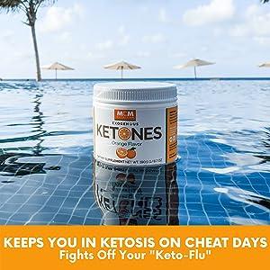 orange Exogenous Ketones Bhb keto flu ketosis supplement diet energy focus suppress appetite