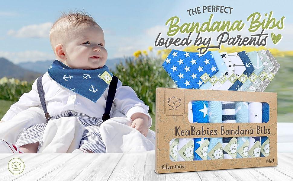 bandana bib bibs baby toddler drool drooling teething organic cotton soft triangle handkerchief gift