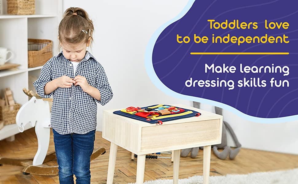 toddler busy board montessori  dressing fine motor skills learning toy educational activity
