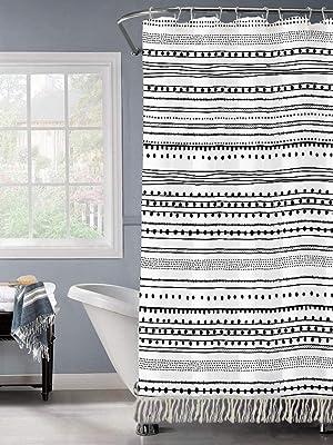 bathroom shower curtain liner shower curtain black geometric bohemian shower curtain hooks