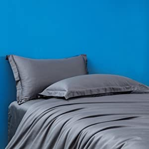 duvet cover solid  gray