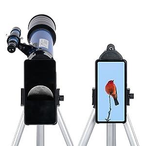 Moutec Astronomisch Teleskop f/ür Kinder Refraktorteleskope mit leichtem Stativ f/ür Astronomie-Anf/änger f/ür Erziehungswissenschaft
