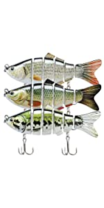 6 jointed lures