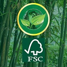 Sustainably sourced bamboo to meet our cooperate social responsibility objectives