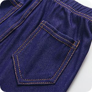 Leggings niñas con 2 bolsillos detrás para transportar llaves o efectos personales.