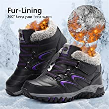 Winter Snow Boots for Women Outdoor Non-Slip Walking Boots Thermal Fully Outdoor Approach Shoes